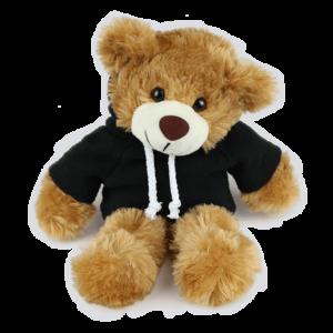 Barnaby Black Hoodie Copy Custom Branded Bear