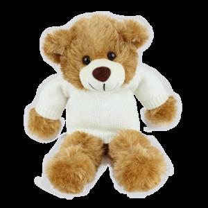 Barnaby White Jumper Copy Custom Branded Bear