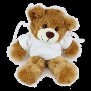 Barnaby White T-shirt Custom Branded Bear