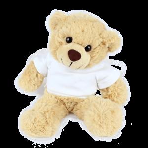 Bertie White T-shirt Custom Branded Bear