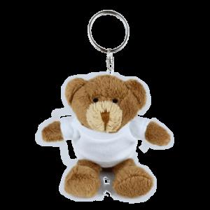 Keyring White T-shirt Custom Branded Bear